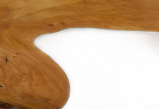 Table Of Unreal Combination Of Wood And Acryl