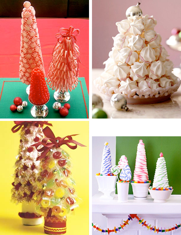 tabletop christmas candy trees