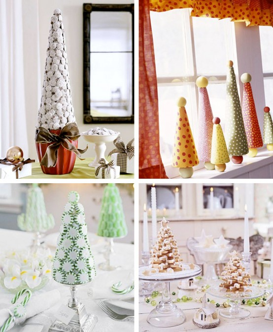 Sweet tabletop Christmas trees