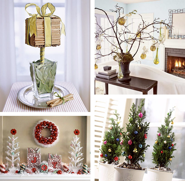 100 Awesome Christmas Stairs Decoration Ideas: 41 Beautiful Tabletop Christmas Trees
