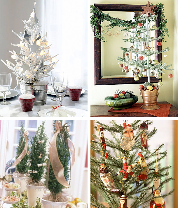 41 beautiful tabletop christmas trees digsdigs. Black Bedroom Furniture Sets. Home Design Ideas
