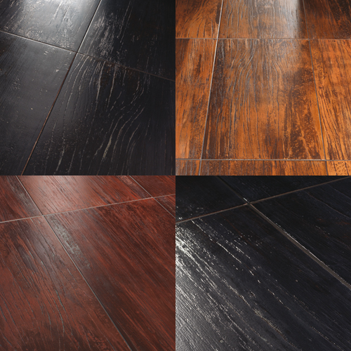 Wood and Metal Ceramic Tiles – Lignite from Tagline