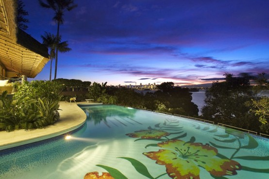 tahiti harbourside house pool