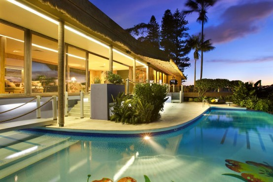 sydney harbourside house pool