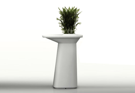Tall Outdoor Table With Flowerpot