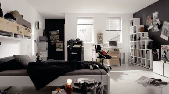 Epic Contemporary teenager us room design of a real music