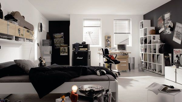 Teenage Boy Room Of A Music Fan