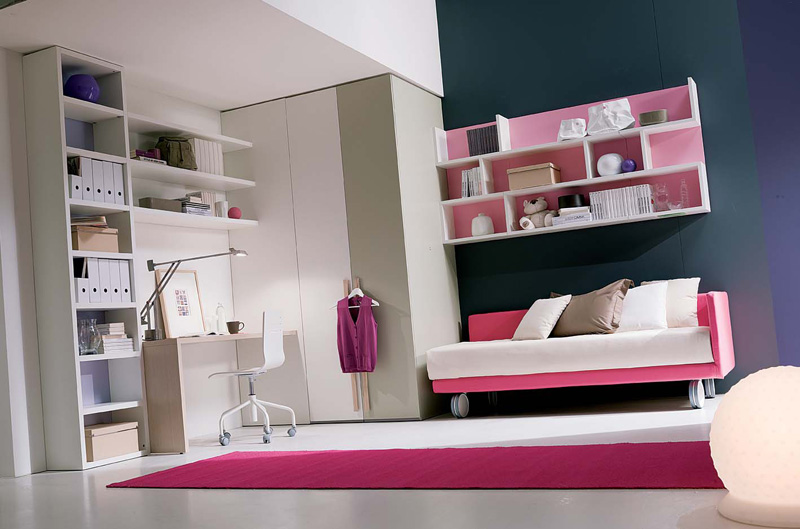 13 cool teenage girls bedroom ideas digsdigs - Furniture for teenage girl bedroom ...