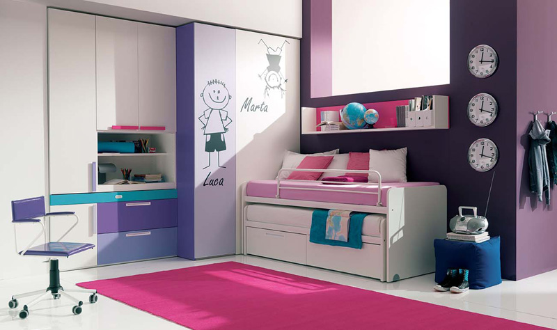 13 cool teenage girls bedroom ideas digsdigs for Teenage bedroom designs for small bedrooms