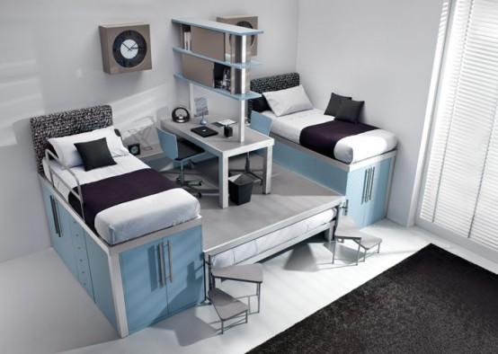 teenage loft bedroom