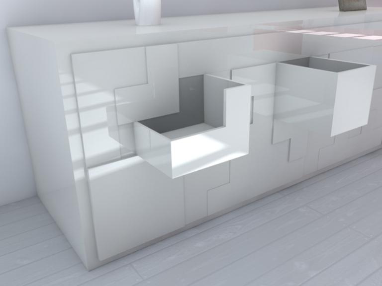 Tetris Inspired Interactive Furniture