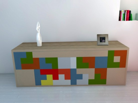 Tetris Inspired Interactive Furniture