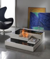 Tetris Like Minimalist Fireplace