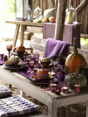 Thanksgiving Decor Ideas In Dramatic Purple