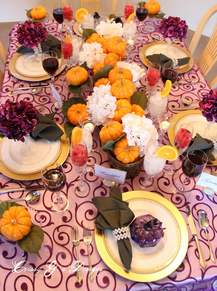 Thanksgiving décor ideas in dramatic purple digsdigs