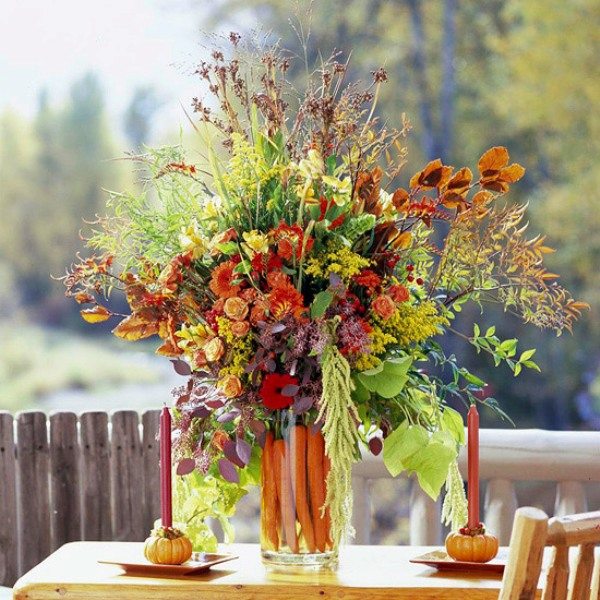 Thanksgiving Decor In Natural Autumn Colors