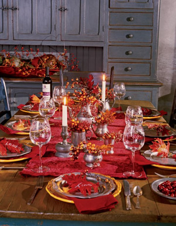Thanksgiving decor in natural autumn colors digsdigs Fall decorating ideas for dinner party