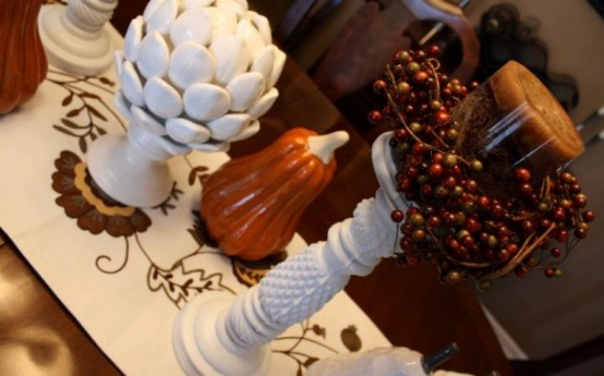 Thanksgiving Decoration In Autumn Colors