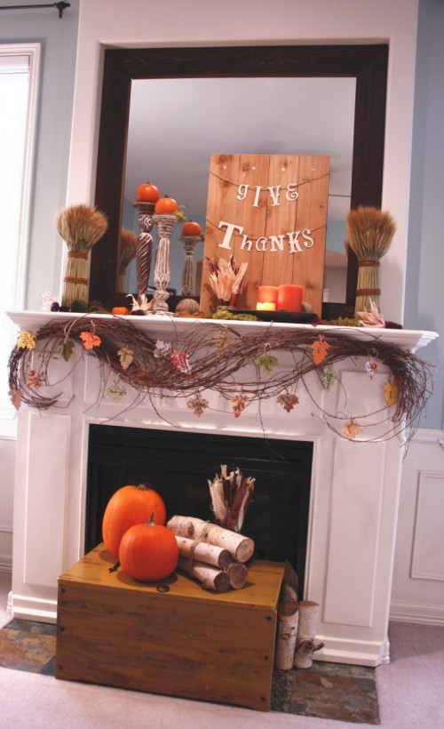 40 Thanksgiving Mantelpiece Décor Ideas - DigsDigs