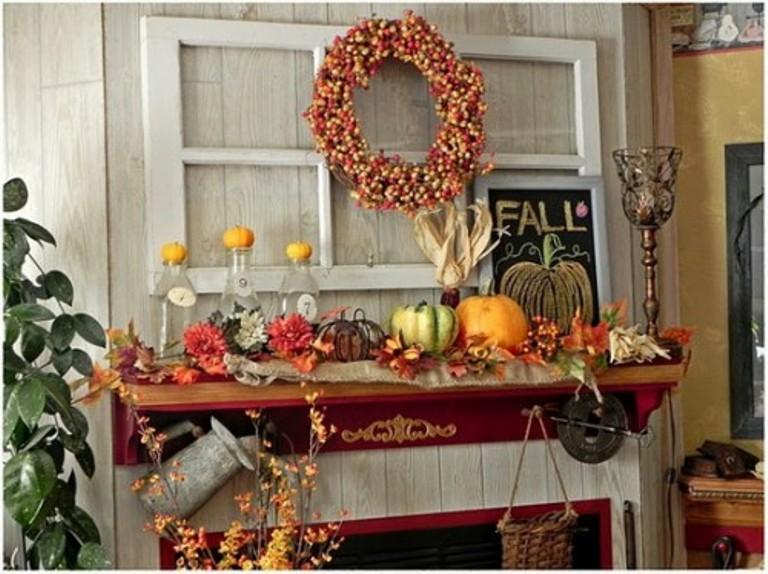 Thanksgiving Mantelpiece Decor Ideas