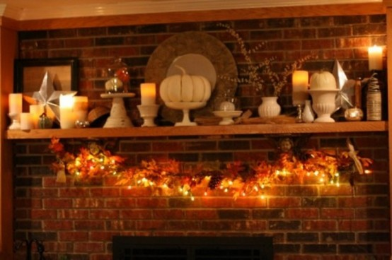 Thanksgiving Decoration Ideas 40 thanksgiving mantelpiece décor ideas - digsdigs