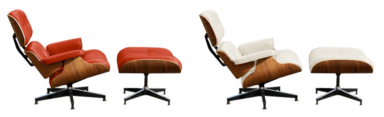 the eames lounge with ottoman