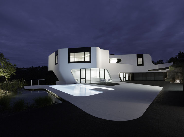 Futuristic House Beauteous The Most Futuristic House Design In The World  Digsdigs Inspiration
