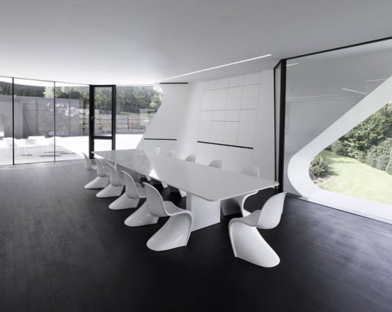 the most futuristic house dining room
