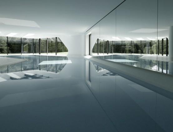 the most futuristic house interior pool