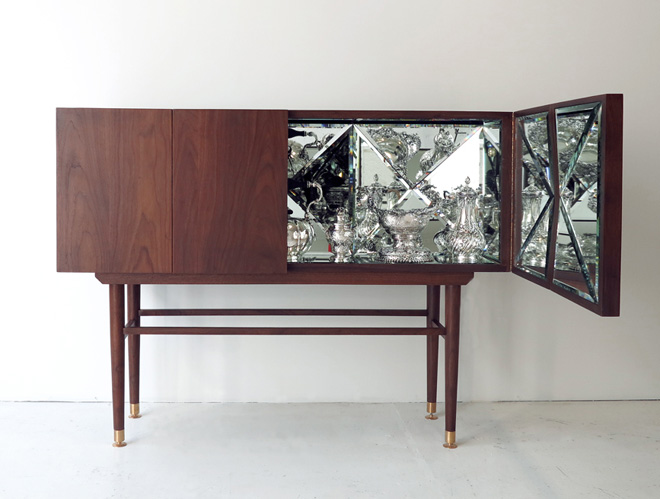 'The Space Between The Void' Cabinet With A Kaleidoscopic Design