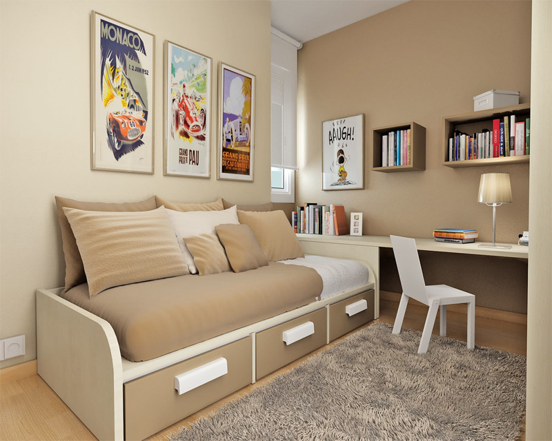 small room for your kids then check out roundup of small teen room