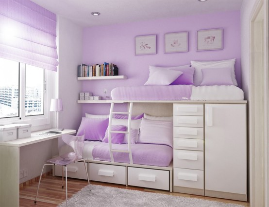 55 thoughtful teenage bedroom layouts digsdigs - A nice bed and cover for teenage girls or room ...