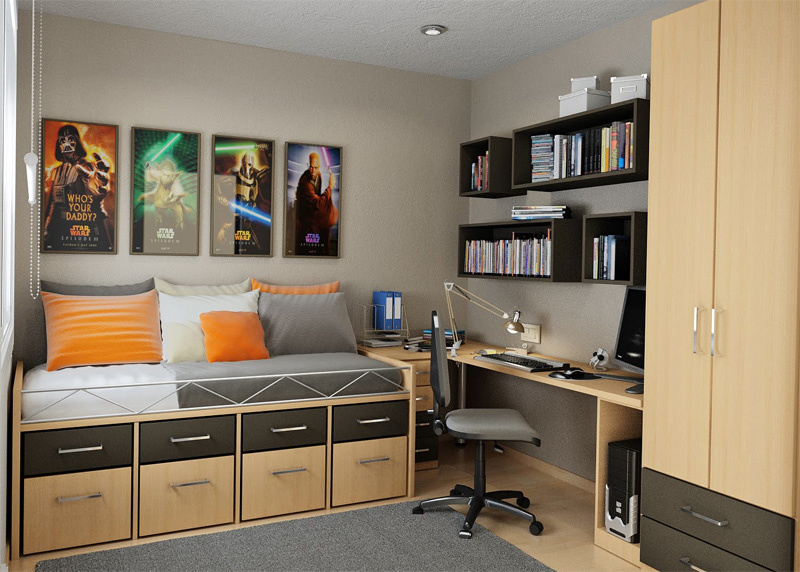 Thoughtful Teen Room Layout