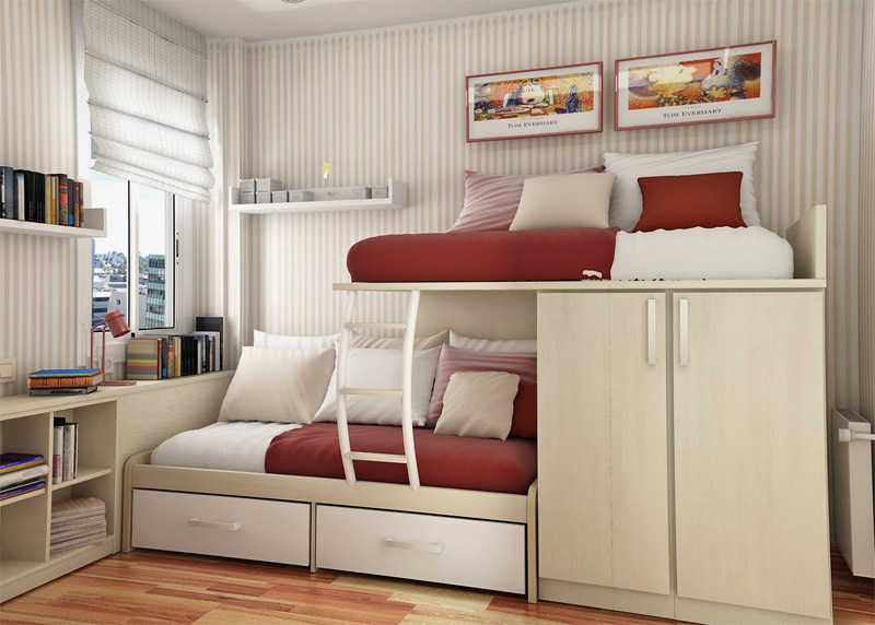 55 thoughtful teenage bedroom layouts digsdigs for Best beds for small rooms