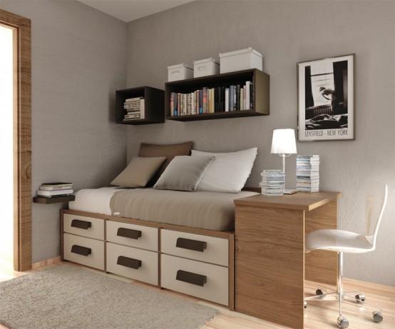 Teenage Bed Designs 55 thoughtful teenage bedroom layouts - digsdigs