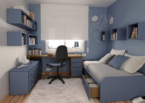 Teenage Rooms Extraordinary 55 Thoughtful Teenage Bedroom Layouts  Digsdigs Inspiration Design