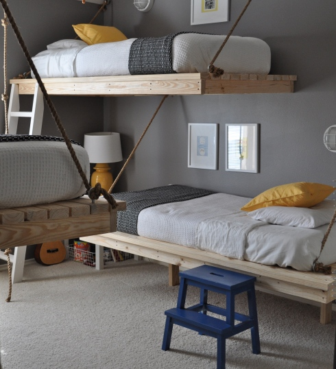 hanging beds boys room