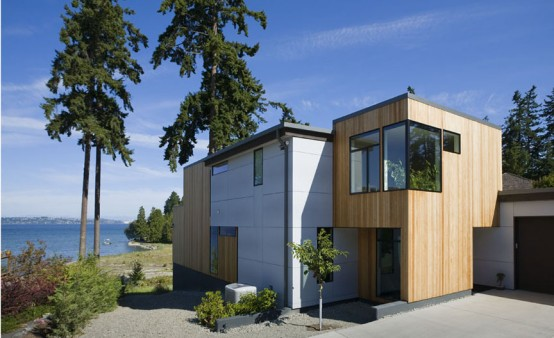 Three Level Waterfront Modern Home – Bainbridge Island Residence