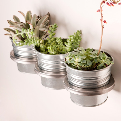 Three Ring Mountable Steel Planter