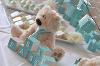 tiffany blue dessert table for a boy baby shower