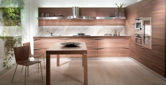 time wooden kitchen