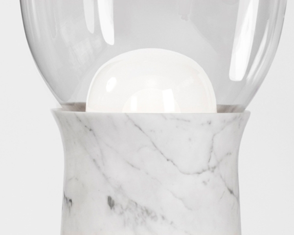 Timeless Torch Floor Lamps Of Marble And Glass