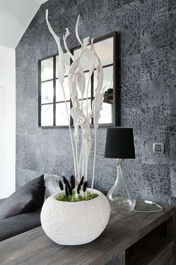 Tiny Minimalist Black And White Loft In Prague