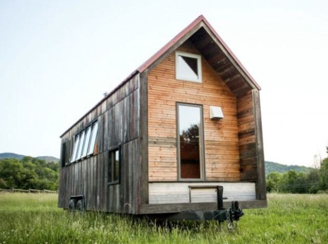 Tiny Mobile Shelter With Rustic Charm