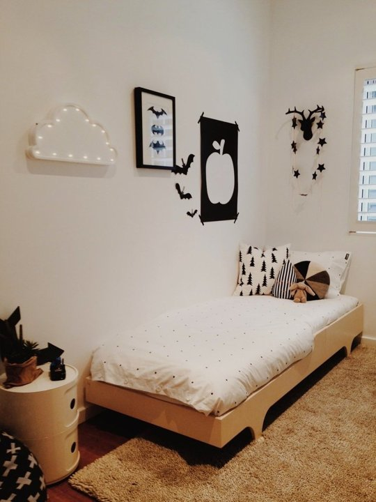 Tiny Monochrome Room For A Little Boy