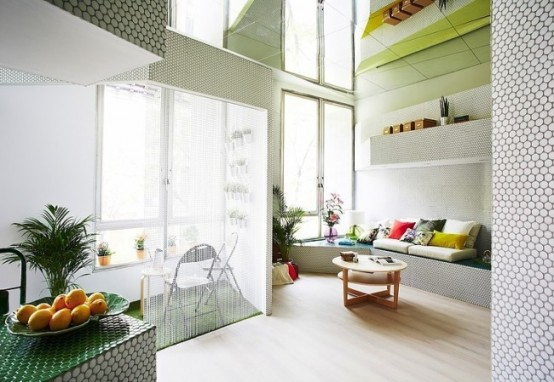 Tiny Perimter Apartment With Smart Design Solutions