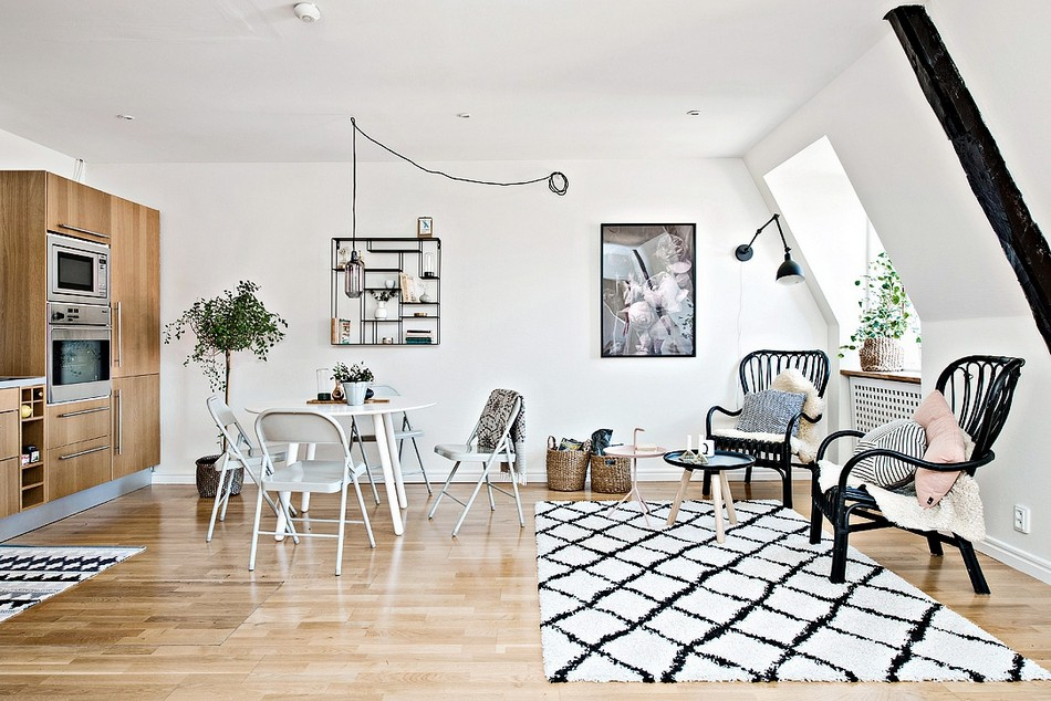 Tiny Scandinavian Apartment With A Smart Space-Saving Design