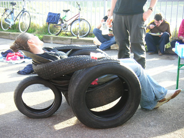 tire lounge chair