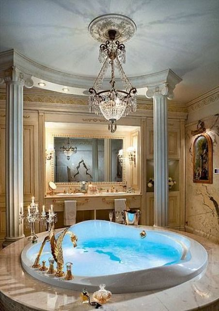 Top 10 bathroom decor trends and 45 examples digsdigs for Bathroom jacuzzi decor