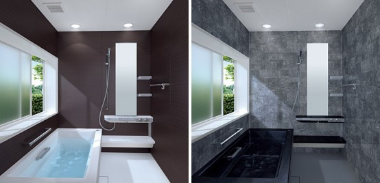 Toto Sprino Small Dark Bathroom